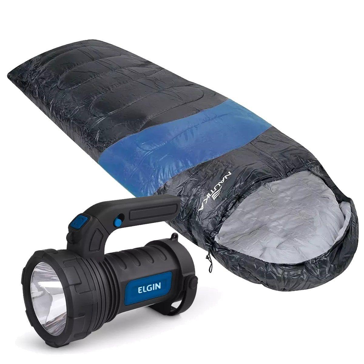 Saco De Dormir Viper Ntk + Lanterna Lampião Elgin