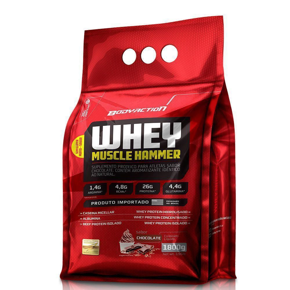 Whey Muscle Hammer - Chocolate 1800g - BodyAction