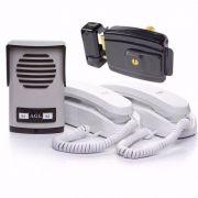 Porteiro Coletivo 2 Pontos AGL Com 2 Monofones + Fechadura Elétrica AGL-inha 12v