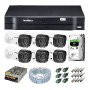 Kit 6 Câm. Intelbras 1120b + Dvr Intelbras 1108 + Hd 1 Tera