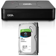 Dvr Giga Security GS0082 4 Canais Open HD Lite 1080n + HD Seagate 1 Tera Skyhawk