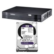 DVR Stand Alone Intelbras 16 Canais MHDX 1116 G3 + HD Western Digital 3 Tera Purple WD30PURX