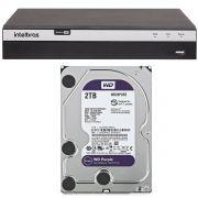 Dvr Stand Alone Intelbras 8 Canais MHDX 3108 Full HD 1080p + HD 2 Tera WD Purple