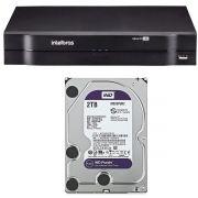 DVR Stand Alone Intelbras MHDX 1116 16 Canais 1080p Lite + Hd 2 Tb WD Purple WD20PURX