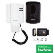 Kit Interfone Residencial Ipr 8010 Intelbras + Fechadura Intelbras Fx 2000
