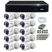 Kit 10 Câmeras de Segurança HD 720p Giga Security GS0018 + DVR Giga Security Multi HD + Acessórios