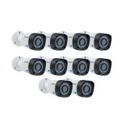 Kit 10 Câmeras Multi Hd Intelbras Vhd 3130b Lente 3,6mm