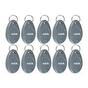 Kit 10 Peças de Chaveiro Digital Tag AGL Para fechadura Smart Card e Controle de acesso