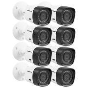 8- Câmeras Intelbras Infravermelho 720p Vhd 1010b Lente 3,6mm 10m