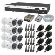 Kit 8 Câmeras de Segurança Intelbras Full Hd 1080P VHD 3230B + Dvr Intelbras MHDX 3108 + HD WD 1 Tera Purple + Acessórios