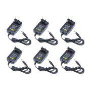 Kit com 6 Fonte Estabilizada 12V 2A Bivolt, Ideal para câmeras de segurança