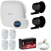 Kit de Alarme Intelbras Amt 2018E + 04 Sensores Com Fio Intelbras IVP 3000CF + Acessórios