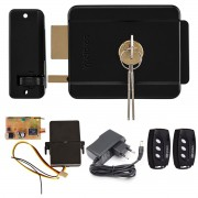 Kit Fechadura Eletrônica Intelbras FX500 Preta + Receptor Rx Code Learn + 2 Controles TX DECO