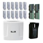Kit Interfonia condominial Comunic 12 Intelbras Completo para 12 Apartamentos - Sem Portaria