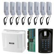 Kit Interfone Comunic 16 Intelbras + 08 Pontos Com Porteiro Intelbras