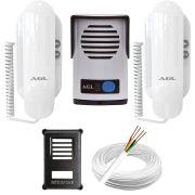 Kit Interfone Porteiro Eletrônico Agl P10S / 12v + Extensão Monofone + 100 Metros de Cabo + Protetor
