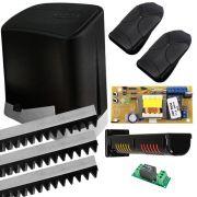 Kit Motor de Portão PPA Automatizador Deslizante 1/4 HP DZ Home + Sinaleira AGL Vision Led Com Placa Acionadora