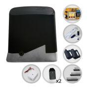 Kit Motor Portão Eletrônico Deslizante PPA 1/4 Hp Dz Home + Tx Car