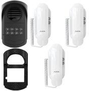 Kit Porteiro Eletrônico Coletivo AGL 8 Pontos S300 + 3 Interfones
