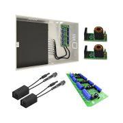 Kit Rack Mini Orion  HD 3000 4 Canais + Placa Organizadora 4 Canais + 2 Baluns Conversores Rj45 + 2 Balun Para Rack onix