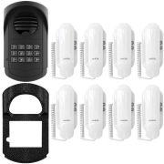 Porteiro Interfone Coletivo S300  Agl 12 Pontos + 8 Interfones + Protetor