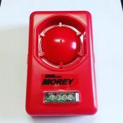 Sirene de Parede Morey com Strobe Vermelha 24V
