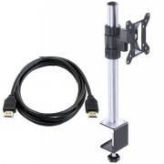 Suporte Para Monitor 12'' A 30'' Vesa 50x50 75x75 100X100 - SM320B + Cabo HDMI