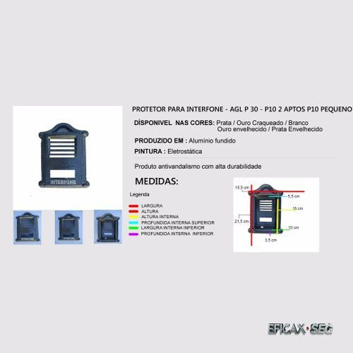 Protetor De Porteiro Eletrônico Agl P10, P200