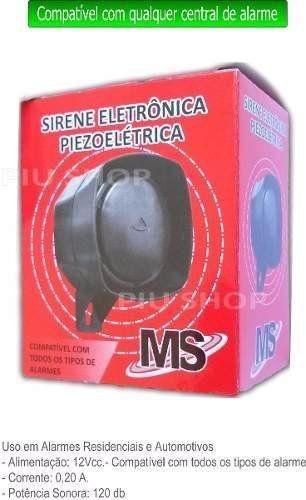 Sirene Para Alarme/Cerca Elétrica Mm 12v 120db