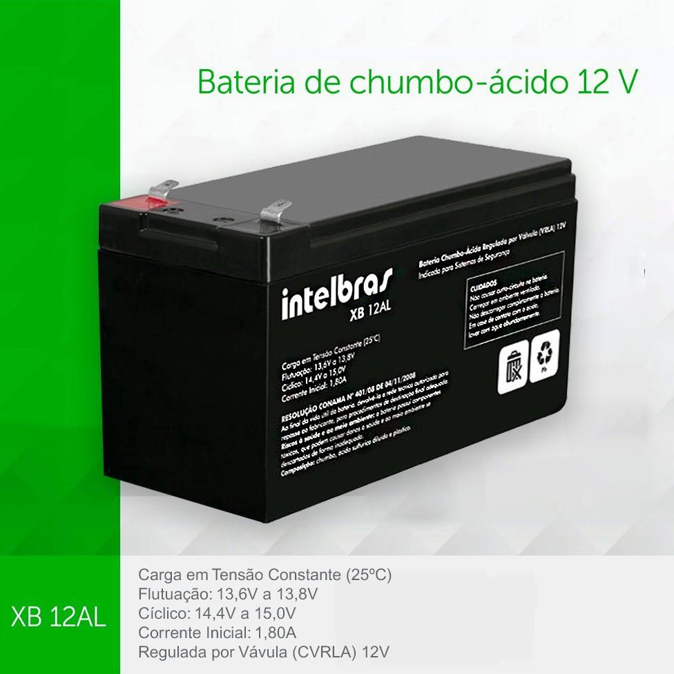 Central Alarme Intelbras Amt 2010 + Bateria Intelbras 12V VB 12AL.