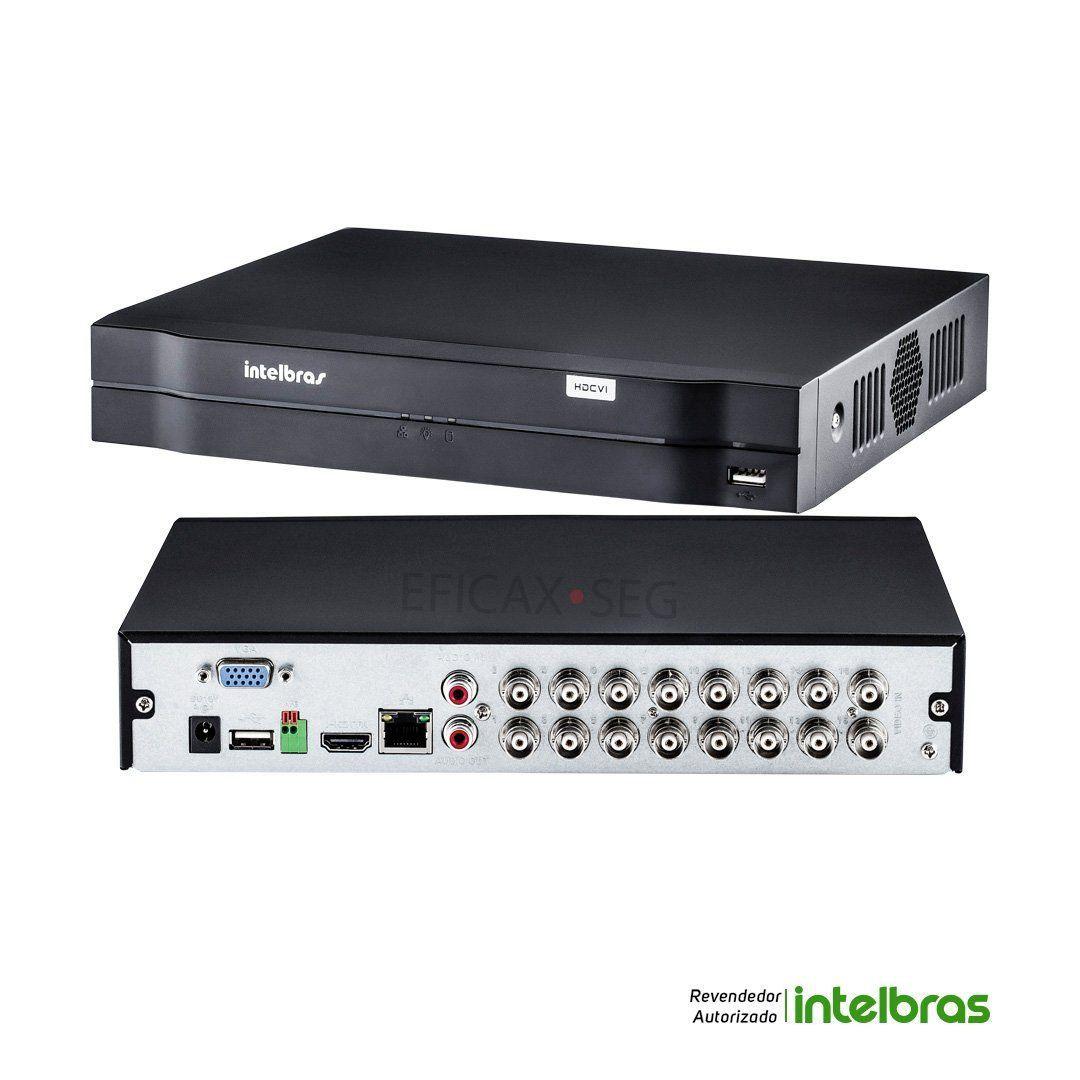 DVR Stand Alone Intelbras MHDX-1116 16 Canais 1080N + HD 1 Tera Seagate SKYHAWK