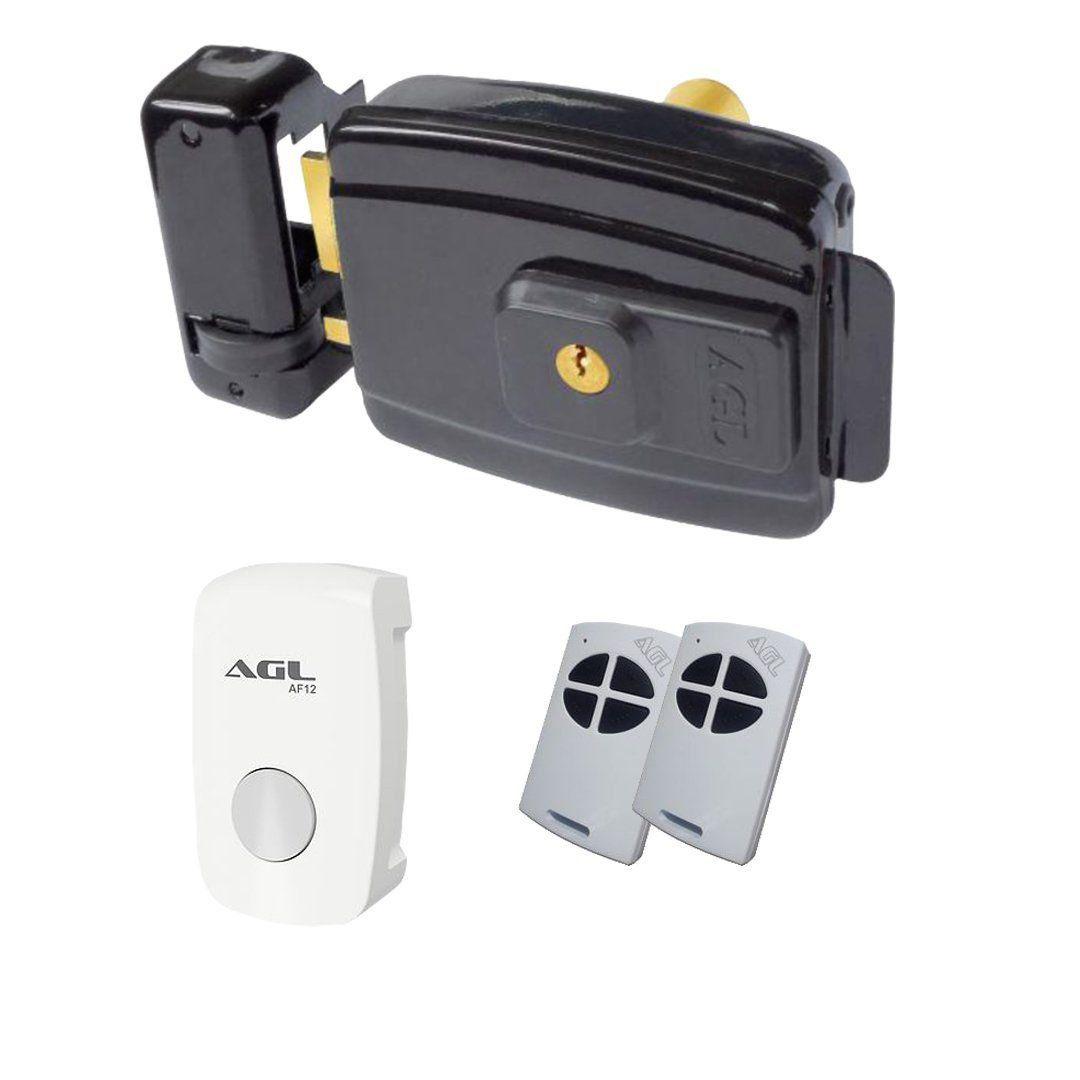 Fechadura Elétrica Agl-inha + Acionador + 2 Controles Remoto
