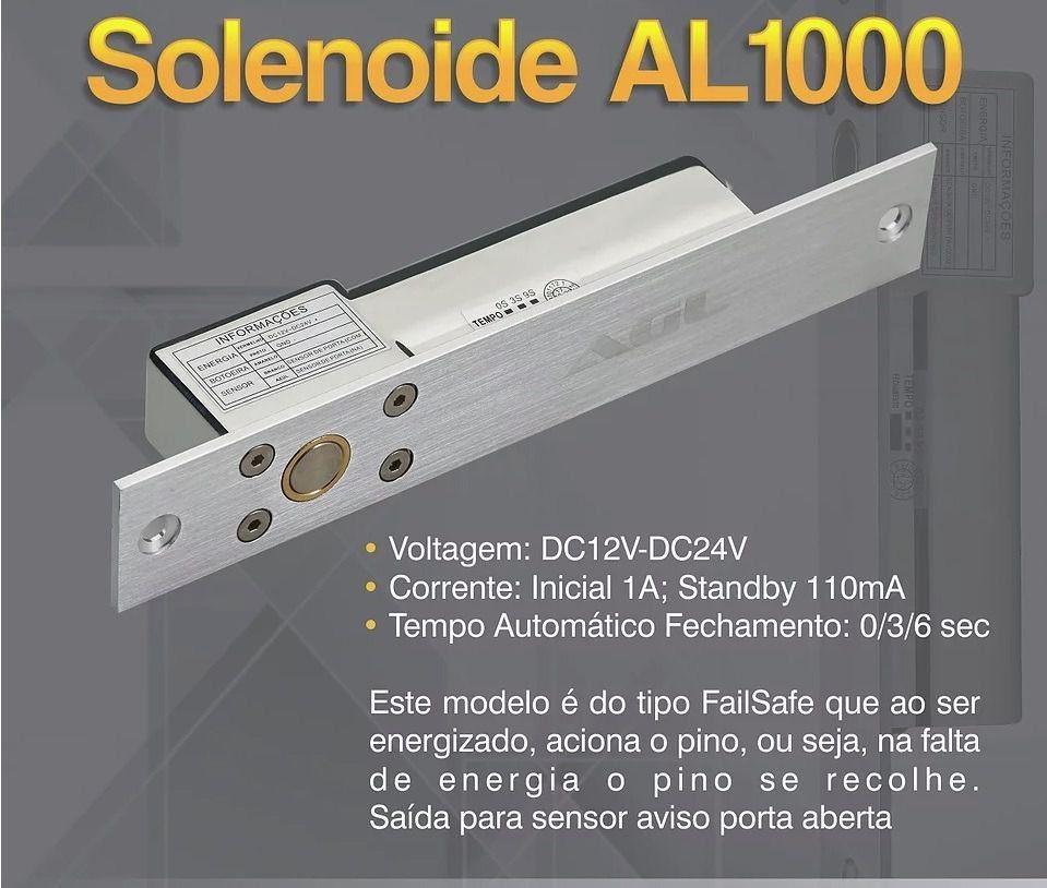 Fechadura Trava Elétrica Solenoide Agl Portão Al1000 12volts