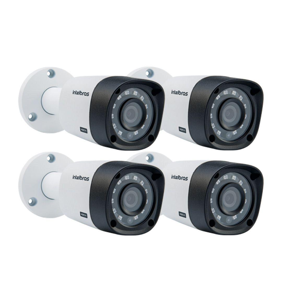Kit 4 Câmeras Intelbras Hdcvi 720p VHD3130B 3,6mm