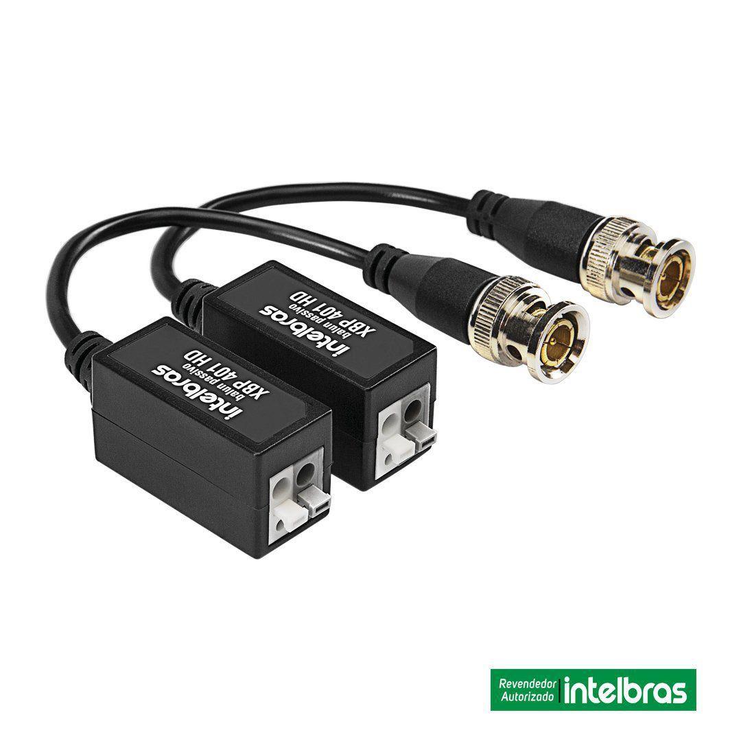 Kit 4 Pares Vídeo Balun XBP 401 Intelbras Passivo