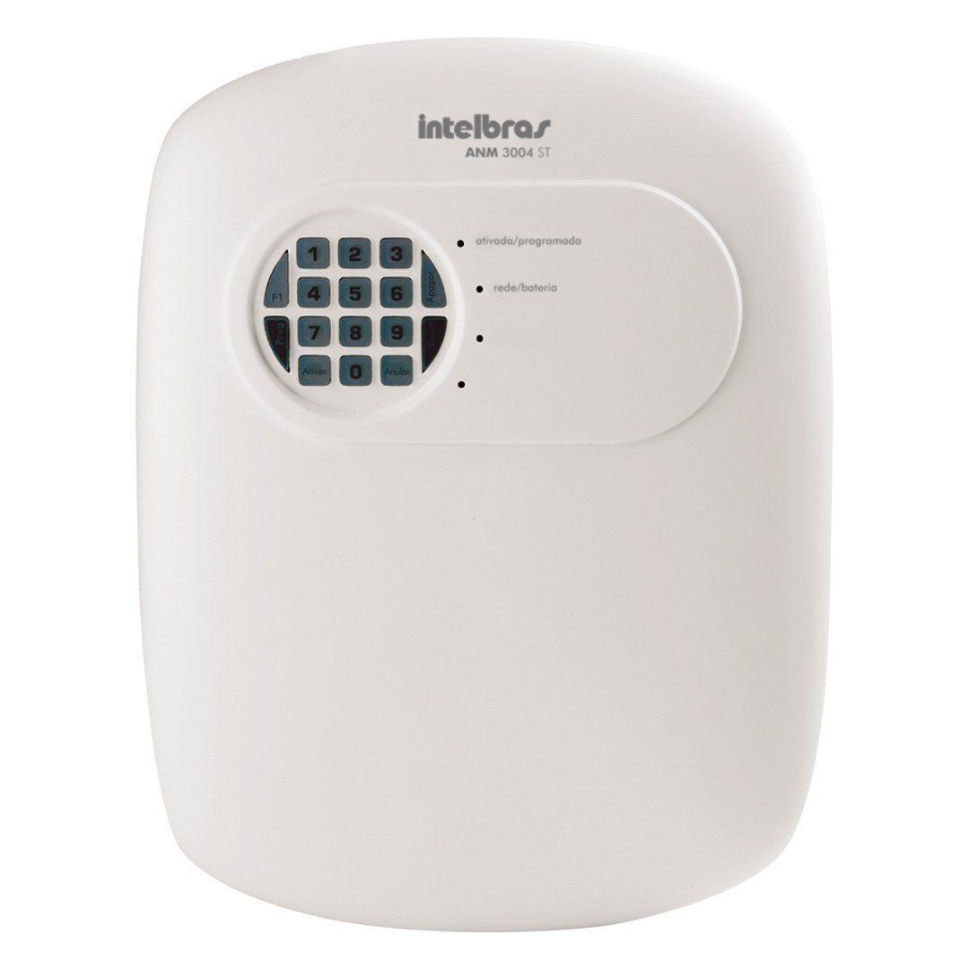 Kit de Alarme Intelbras Anm 3004St + 05 Sensores Com Fio Intelbras IVP 5001 PET +  Acessórios