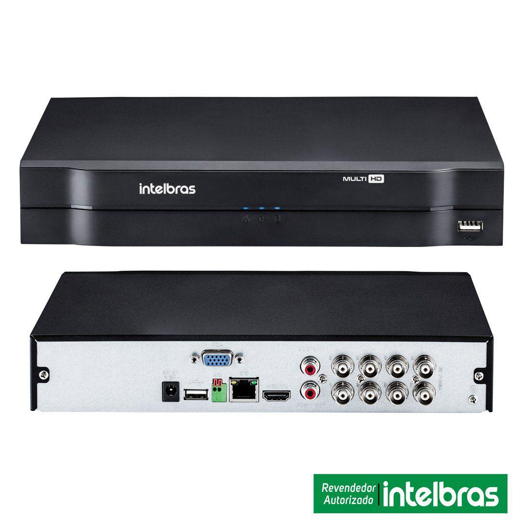 Kit CFTV 4 Câmeras Segurança 720P Intelbras VHD 3130B + Dvr Intelbras MHDX 1108  + HD 1 Tera Seagate + Acessórios
