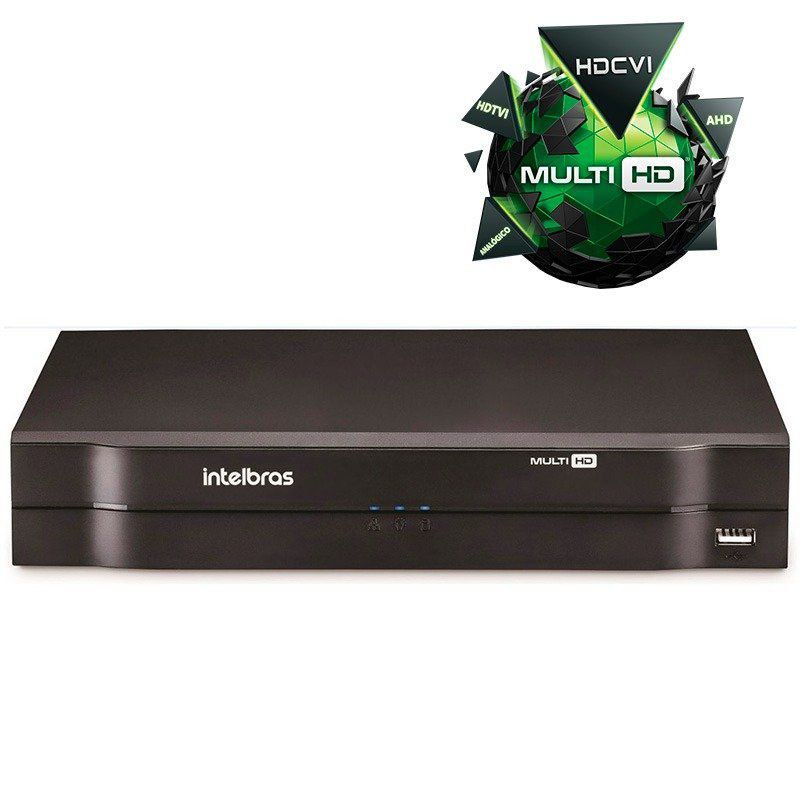 Kit CFTV 6 Câmeras Segurança Intelbras 720P VHD 3130B + Dvr Intelbras MHDX 1108  + HD de 1 Tera Seagate SKYHAWK + Acessórios