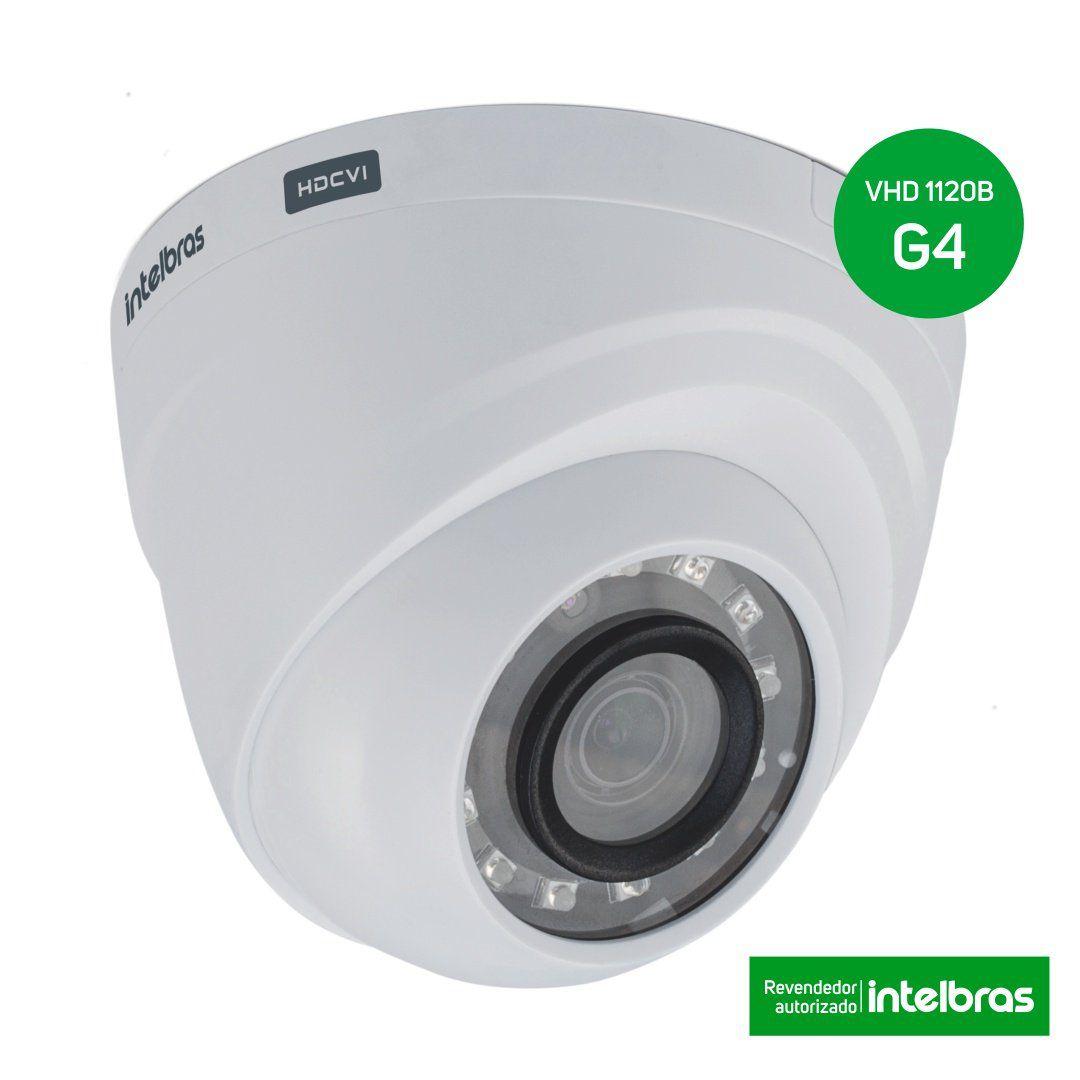 Kit CFTV 8 Câmeras Segurança Intelbras 720P VHD 1120D ...