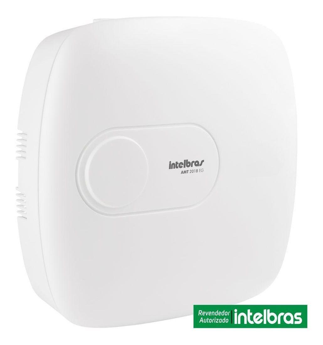 Kit de Alarme Intelbras Amt 2018 EG + 03 Sensores Com Fio Intelbras IVP 3000CF + 03 Sensores Sem Fio Intelbras XAS 4010 + Acessórios