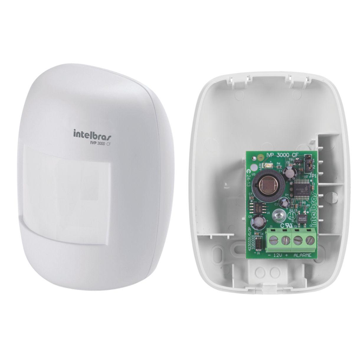 Kit de Sensores Intelbras Com 10 Sensores Com Fio Intelbras IVP 3000 CF