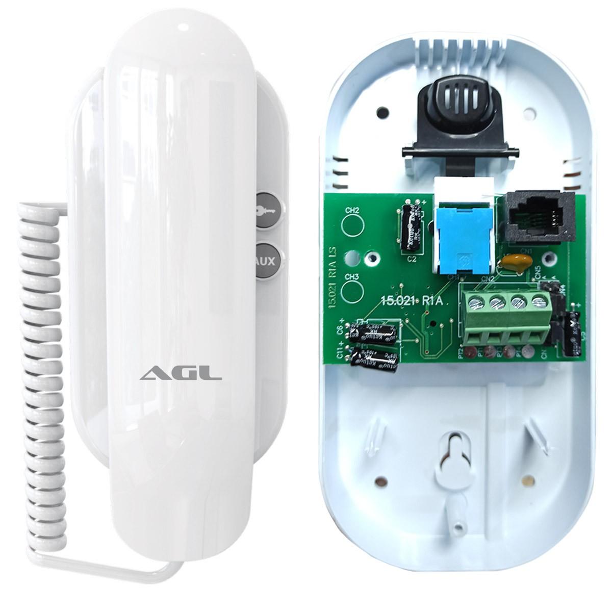 Kit Porteiro Eletrônico Agl P10S + Fechadura Elétrica Agl + Cabo de 20 mts