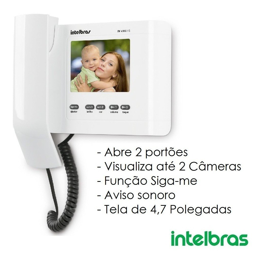 Módulo Interno P/ Vídeo Porteiro Intelbras Linha IV 4000 HS IN