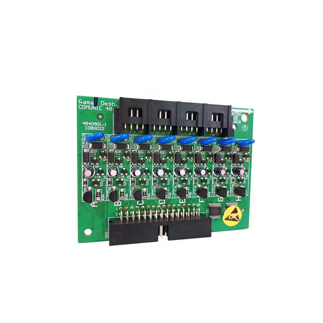 Placa Intelbras 8 Ramais Desbalanceada Comunic 48 Maxcom