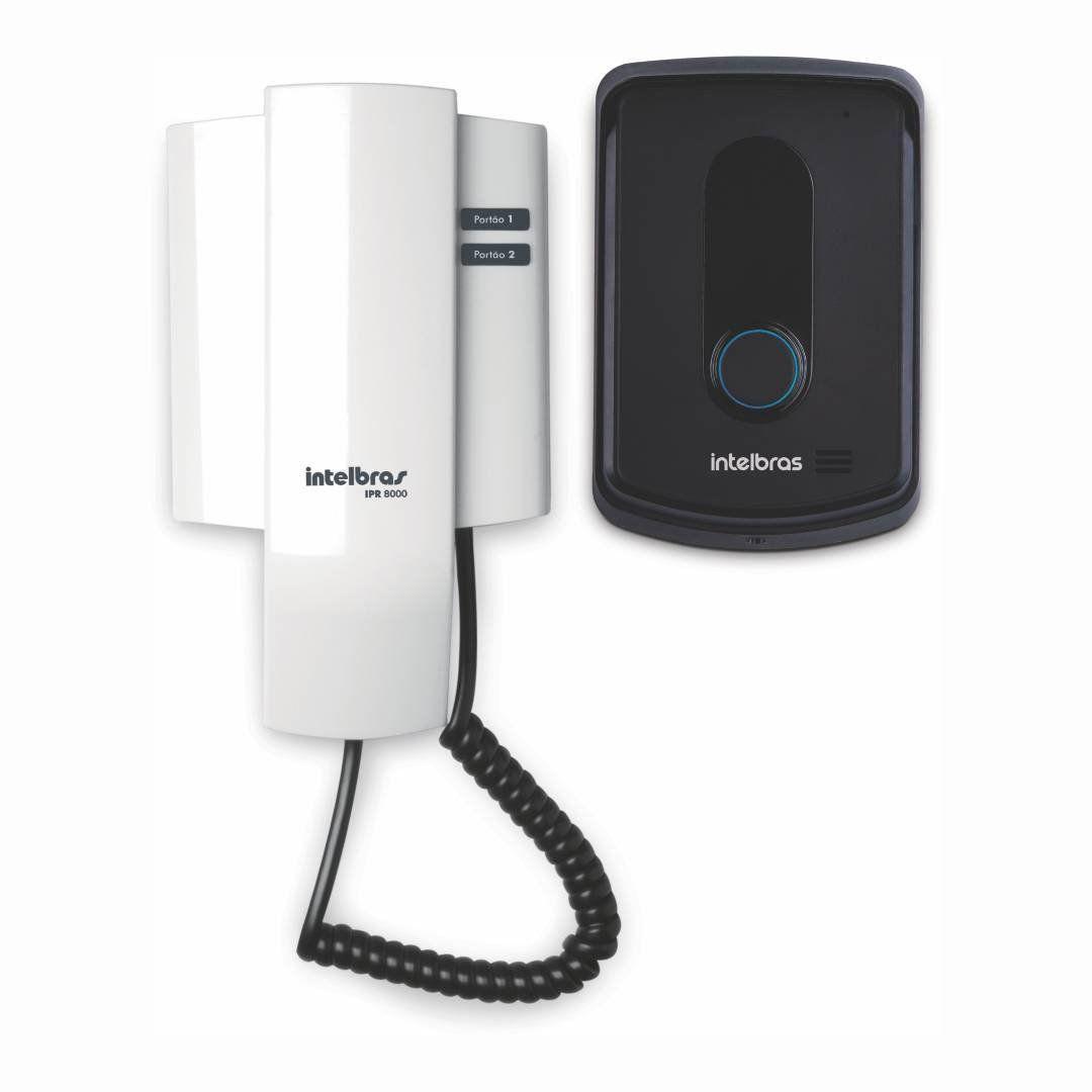 Porteiro Interfone Eletrônico Intelbras IPR 8010 Residencial Abre até 2 Fechadura