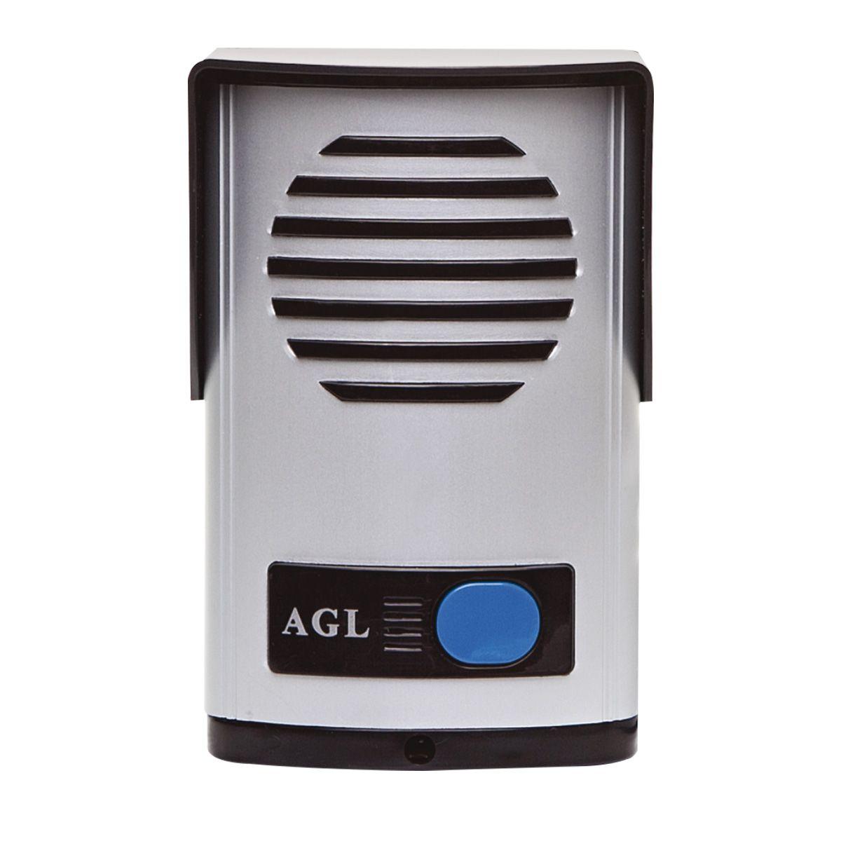 Porteiro Eletrônico Interfone Agl P10S Branco Bivolt