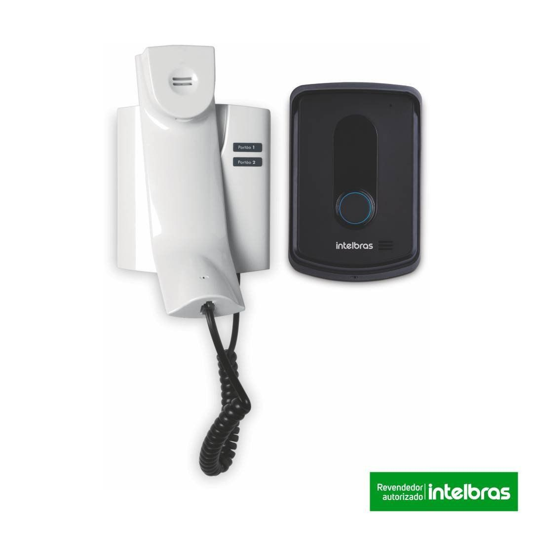 Kit Porteiro Eletrônico Interfone Intelbras Ipr 8010 + Fechadura Elétrica Agl 12v