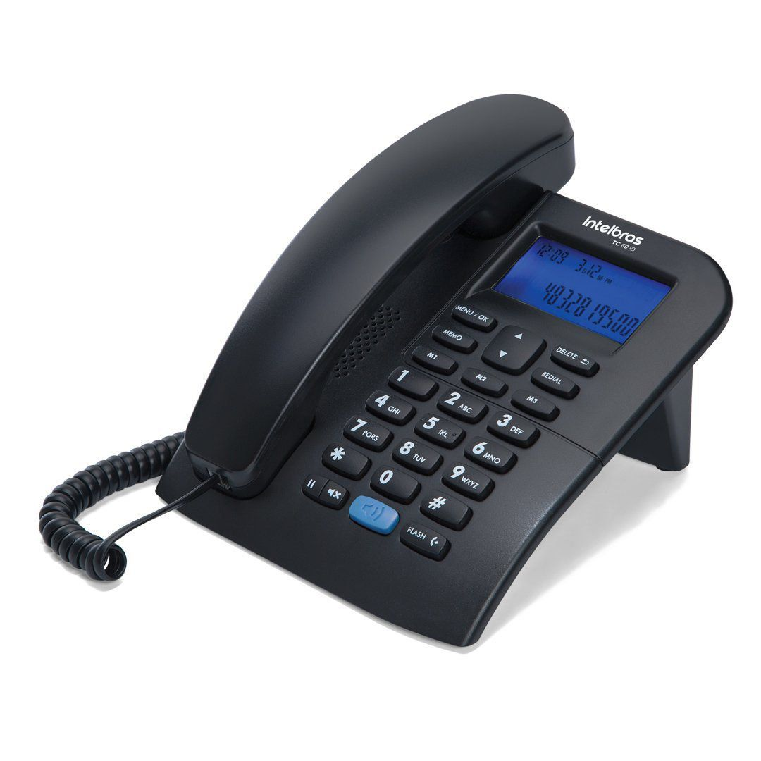 Telefone Intelbras Tc 60 Id Preto