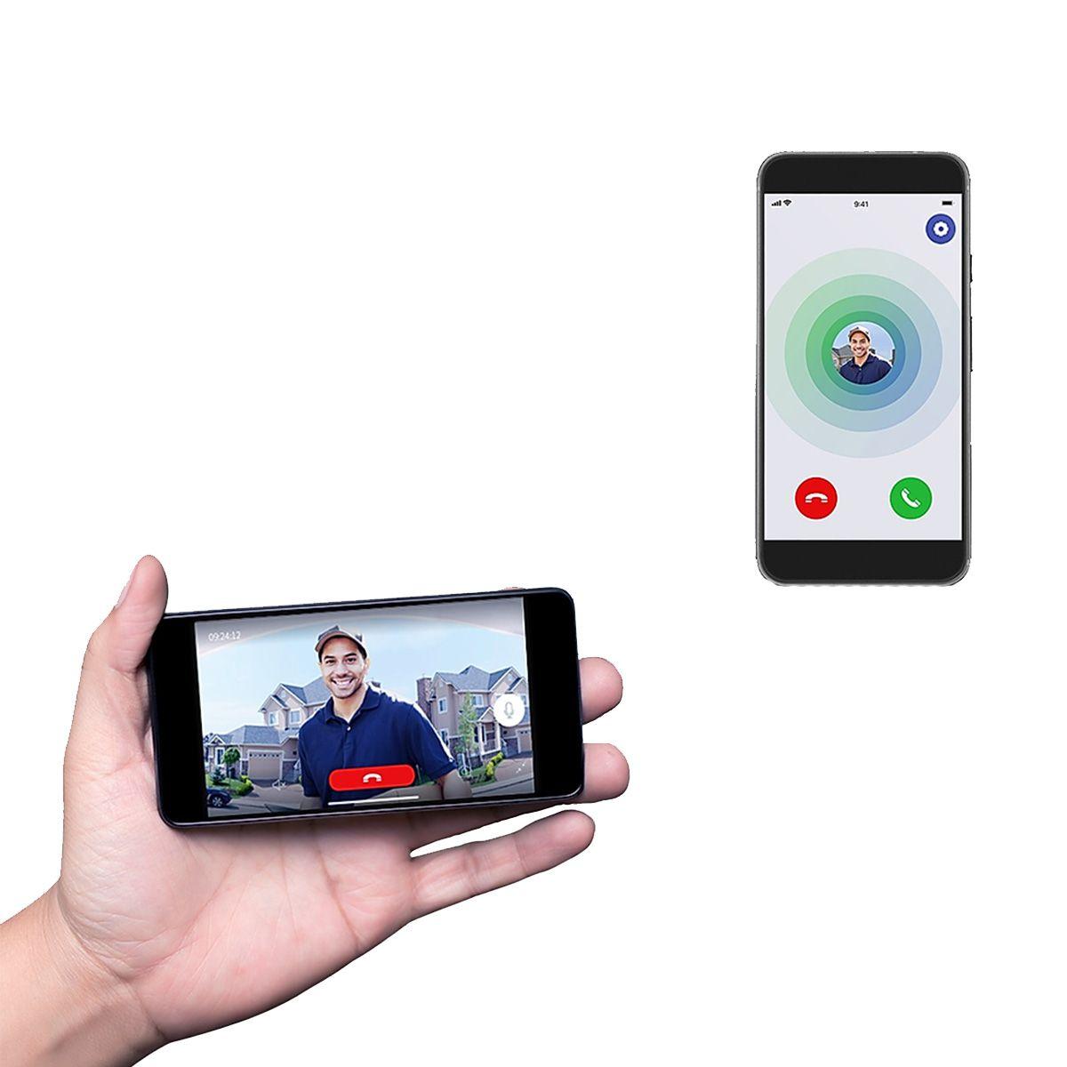 Vídeo Campainha AGL WiFi Bi-volt Plug&Play Por Aplicativo