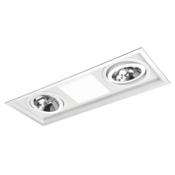 Luminária de Embutir 2X26W e 02 AR111 - C/DIF Acrilico - MS1271/3 Bella Luce